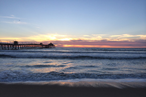 The beautiful sunset Hannah & Dave saw at Imperial Beach last night